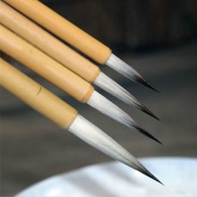 Chinese Calligraphy Brushes Pen Chinese Painting Brush Set Landscape Painting Thin Gold Body Weasel and Woolen Hair Brushes Pen