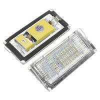 Hot 2pcs Error Free 3528 SMD 18 LED Car LED License Number Plate Light Lamp White