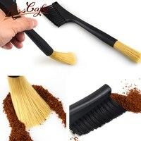 Grinder Cleaning Brush Coffee Milk Powder Brushes Soft Nylon Hair Double head Coffee Shop Bar Utensils Accessories