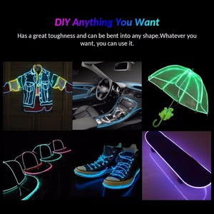Image 5 - OSIDEN EL สายไฟรถ 1M2M3M5M Neon String ไฟ Dance PARTY Decor นีออนไฟ LED โคมไฟกันน้ำแบบยืดหยุ่น LED LIGHT strip