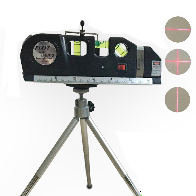 4 in 1 Accurate Multipurpose Laser Level Lever with tripod Cross Projects Horizontal Vertical Laser Light