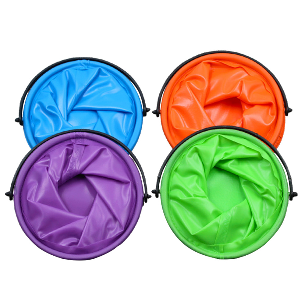 Travel Folding Bucket Bathroom Camping Supplies Portable Ergonomic With Compartment Outdoor Camping Tools Fishing Washing Bag