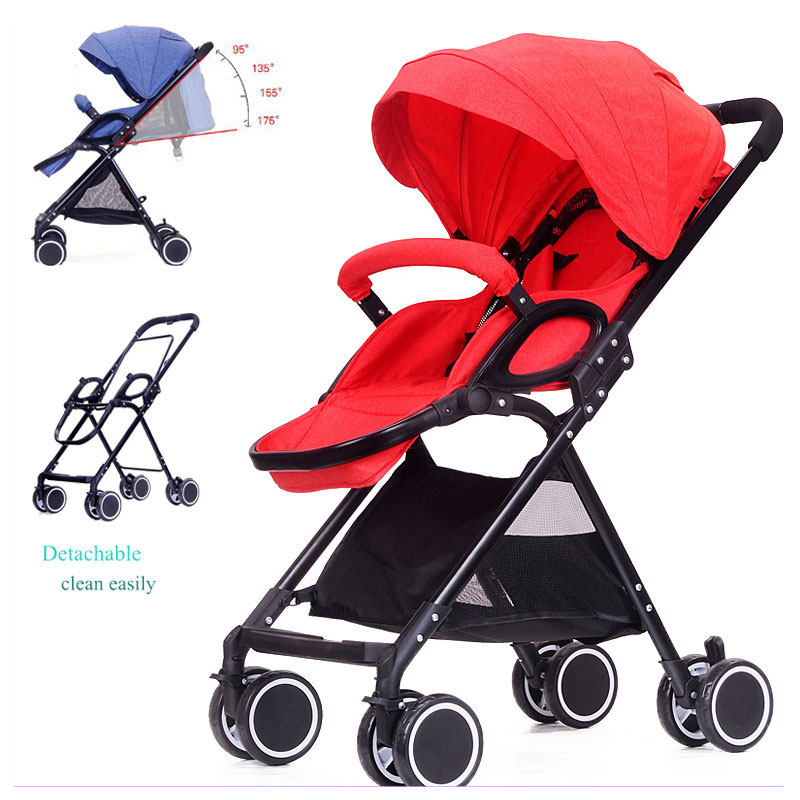 175 Degree Lying High Landscape Lightweight Baby Stroller Portable Folding Travel Car Baby Stroller Airplane Pram Pushchair 0~3Y175 Degree Lying High Landscape Lightweight Baby Stroller Portable Folding Travel Car Baby Stroller Airplane Pram Pushchair 0~3Y