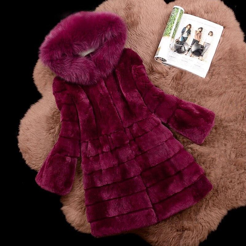 Réel De La D'hiver Nouveau Femmes Toute Rex Épais 4 Manteaux Fox 1 À 2018 2 Vestes Capuchon Vague Naturel Peau 3 Chaud Col Couper Lapin Fourrure rvRr1xwOqE