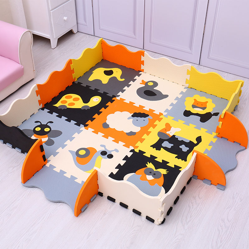 Puzzle Eva Mousse Tapis de Jeu Pour Bébé Et Enfant Puzzle Plancher de Tapis Pour Les Jeux De Bébé Intérieur Tapis Motif Animal puzzle Tapis