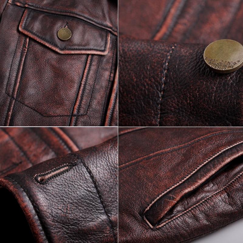 mens cowhide jacket Vintage Men 100 genuine leather Jackets Cow Jackets Zipper Stand Streetwear Leisure cool mens cowhide jacket Vintage Men 100% genuine leather Jackets Cow Jackets Zipper Stand Streetwear Leisure cool warm coat 18687-5