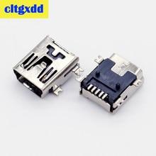 цена на cltgxdd Mini USB SMD 5 Pin Female Mini B Socket Connector Plug charging Jack