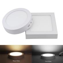 9 W 15 W 25 W Redondo/Cuadrado de Superficie LED Luz Del Panel Luz de Techo Abajo de Luz 85-265 V Luz LLEVADA de interior