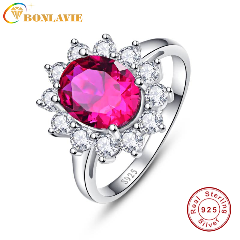 2.95ct Natural Red Ruby Flower Shape Solid 925 Sterling Silver Wedding Engagement Halo Ring Jewelry
