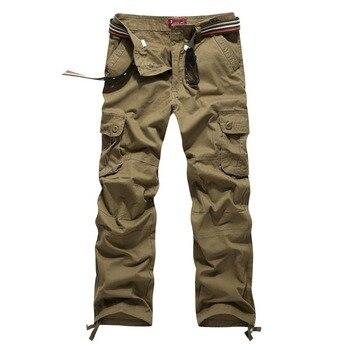 Мужские повседневные брюки с карманами, большие размеры