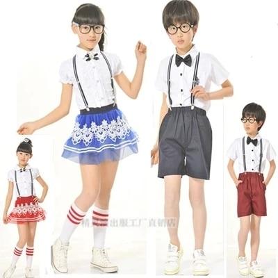 school students in chorus performance apparel clothing for children of kindergarten wear summer uniforms wholesale