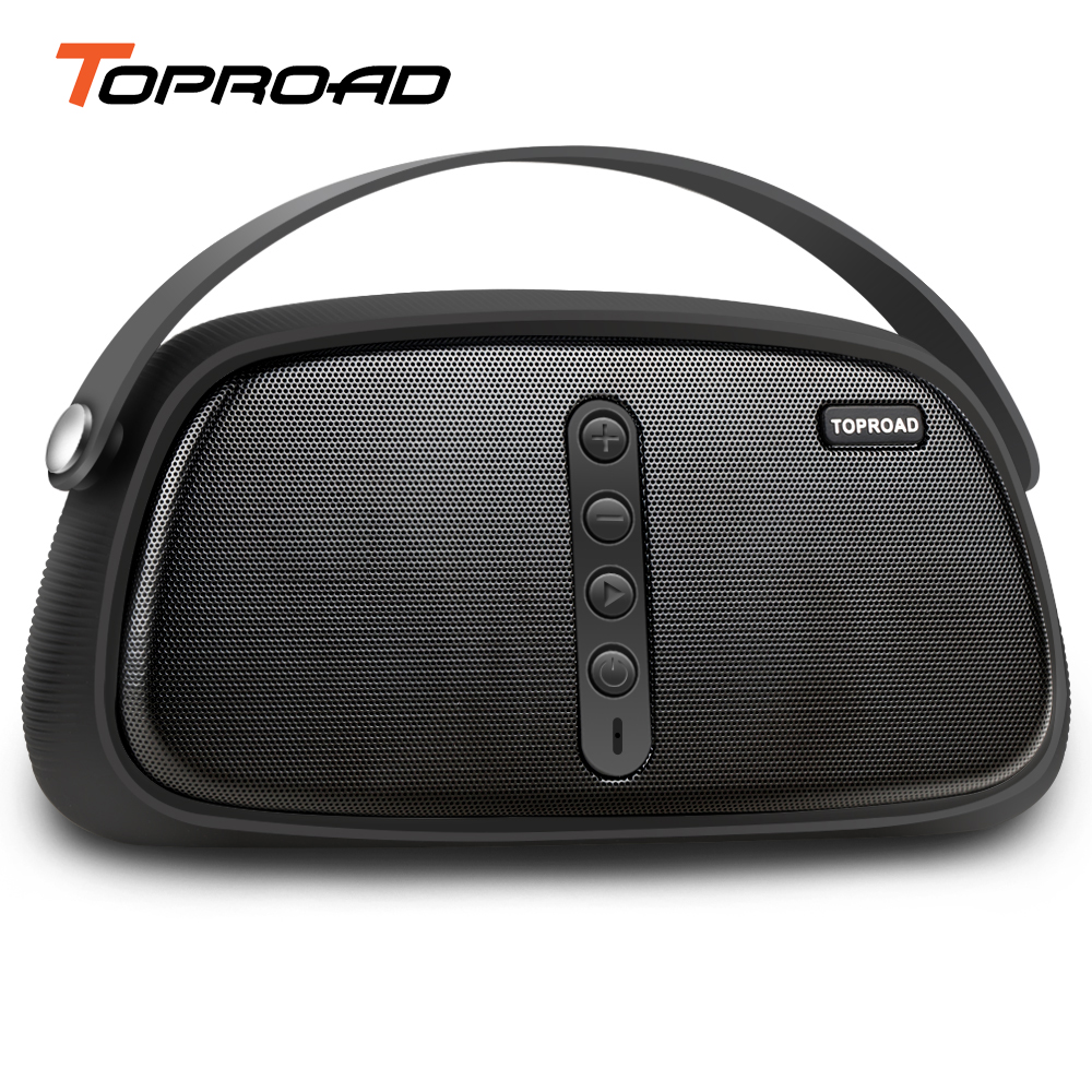 12W Powerful Bluetooth Speaker Outdoor Portable Wireless Speakers Stereo Natural Sound Box Support FM Radio Handsfree