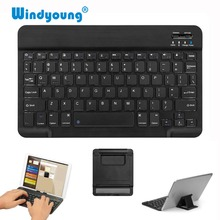 Slim Portable Mini Wireless Bluetooth Keyboard with Stand For Tablet Laptop Smartphone iPad Support IOS Android