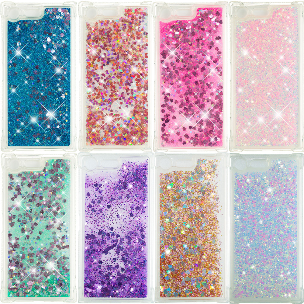 Fitted Case For Sony Xperia Xa1 Bling Glitter Liquid Quicksand Phone Cover G3116 G3112 G3121 G3123 G3125 Back Cases Soft Capa Cellphones & Telecommunications Phone Bags & Cases