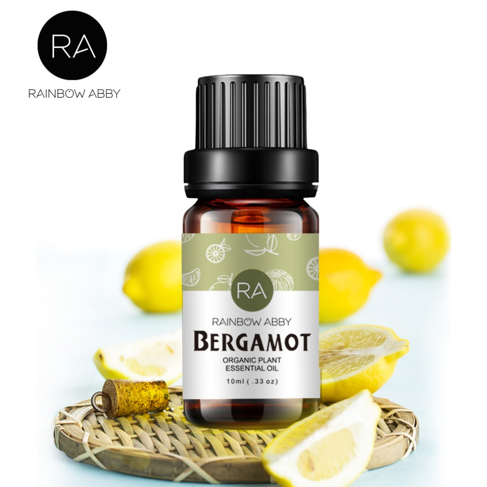 Bergamot Oil 100% Control Oil And Clear Skin Anxiety Natural Bergamot Essential Oil 10ml FOR Aromatherapy Body Massage Oil