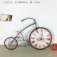 New decorative clocks three-dimensional cartoon wall decoration crafts Iron clock retro bicycle