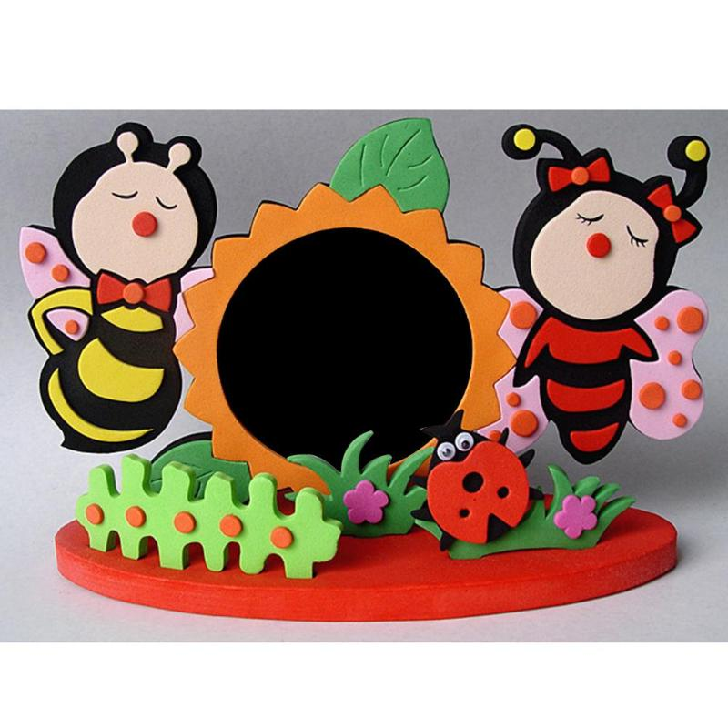Kids Funny DIY EVA Foam Cartoon Photo Frame Craft Toys Child DIY 3D Stickers Photo Frame Handmade Block Toy Kids Craft Gifts