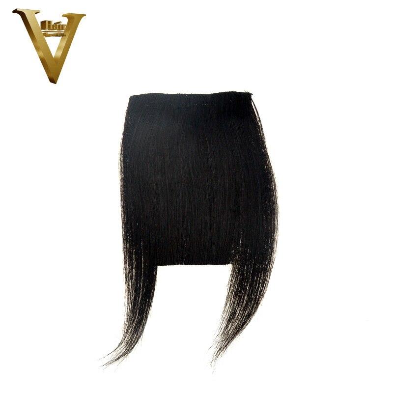 Haarteile Isheeny Schwarz Braun Remy Fringe Clip In Menschliches Haar Pony 10g Natürliche Dünne Clip Pony Stück Haarverlängerung Und Perücken