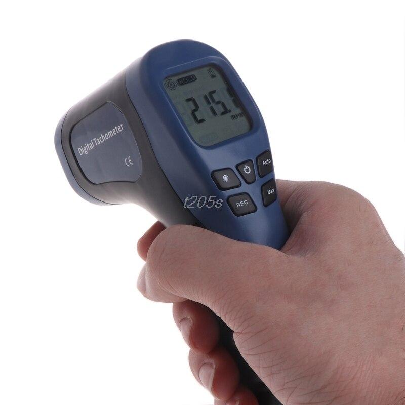 Digital Tachometer Non-Contact Laser Photo Gun RPM Tach Tester Meter Speed Gauge