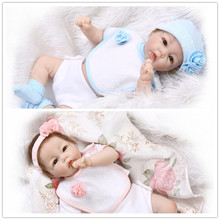 Very Good Looking 52cm 21inch NPK Brand Silicone-Reborn-Baby-Dolls With Cotton Mixed Fabric Two- Piece Suit High Quality Benecas