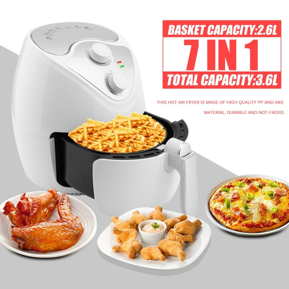 1300W Multifunctional 360 Degrees Hot Air Circulation Fryer Machine Deep Smokeless Non-stick Fryer Oven Cooker EU Plug J25C26 home healthy non stick electric deep fryer smokeless electric air fryer french fries machine for home using af 100 1pc