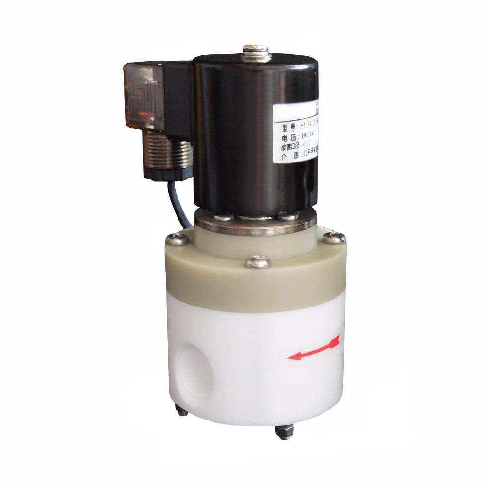 1 2 Anti corrosion SolenoidValve 0 6MPA Strong Acid And Alkali Solenoid Valve PTFE Solenoid Valve