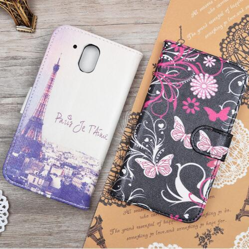 Fashion 25 Patterns Painting PU Leather Case For HTC Desire 326G / Desire 526 526G dual sim 526G  Flip Cover Wallet Phone Bags