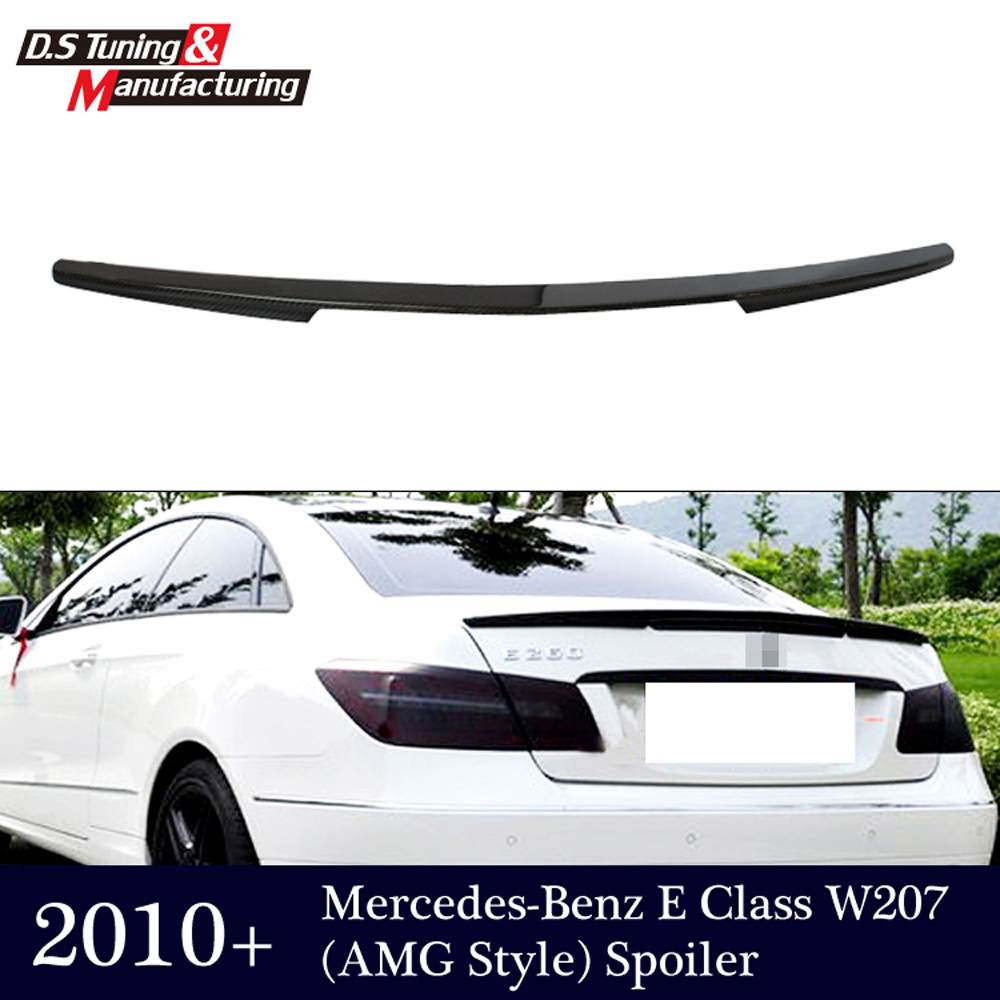 E class w207 c207 carbon fiber rear bumper trunk spoiler wings for mercedes 2010 + 2-door coupe e250 e200 mercedes carbon fiber trunk amg style spoiler fit for benz e class w207 2 door 2010 2015 coupe convertible vehicles