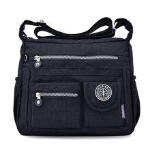 Для женщин Shouder сумки Женский известный бренд Твердые сумка маленькая Летняя Пляжная нейлоновый кошелек Sac основной Bolsas Feminina