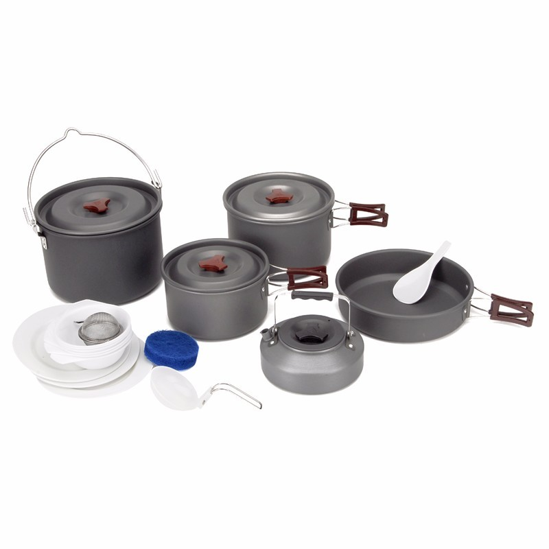 Fire Maple Outdoor Travel 5Pcs/Set 6-7 People Camping Tableware Pot Picnic Cookware Bowl Campismo Kettle FMC-212