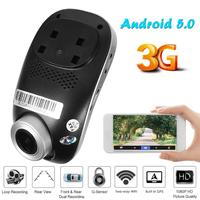 Phisung C1 FHD 1080p Car DVR Camera 3G WiFi Android 5.0 Dual Lens Dashcam