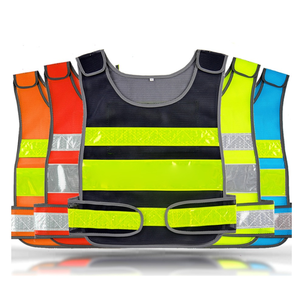 new high visibility safety vest with reflective stripes for working running cycling hiking in. Black Bedroom Furniture Sets. Home Design Ideas