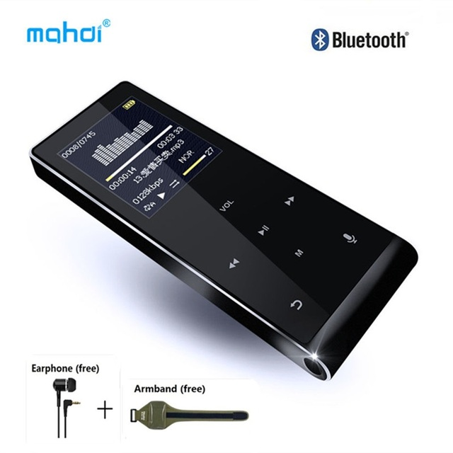 Bluetooth MP4 Player 8gb Multi-language Voice Recorder MP4 Touch Key Video Digital Mini Anti-scratch Music Player with Armband