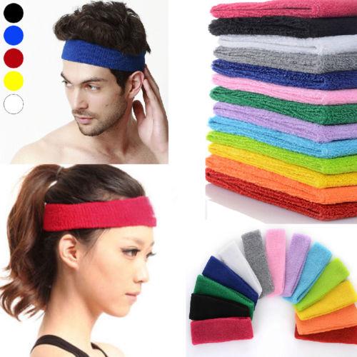 Hot Women Men Sport Sweat Sweatband Headband Yoga Gym Stretch HeadBand Hair