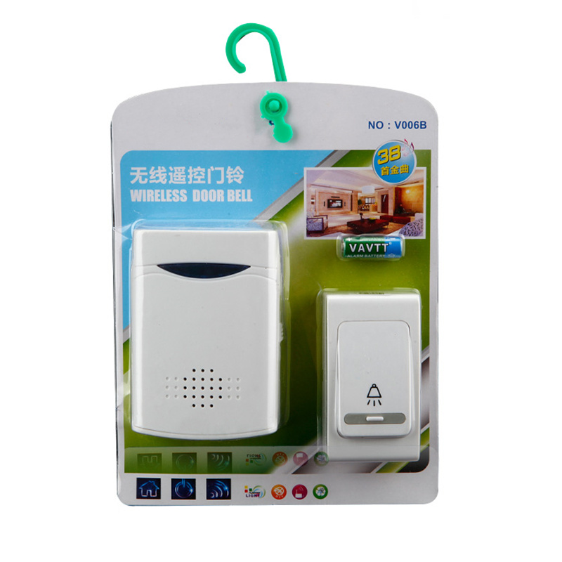 New listing with battery wireless doorbell long distance sensor button doorbell old pager can switch 38 ringtones image