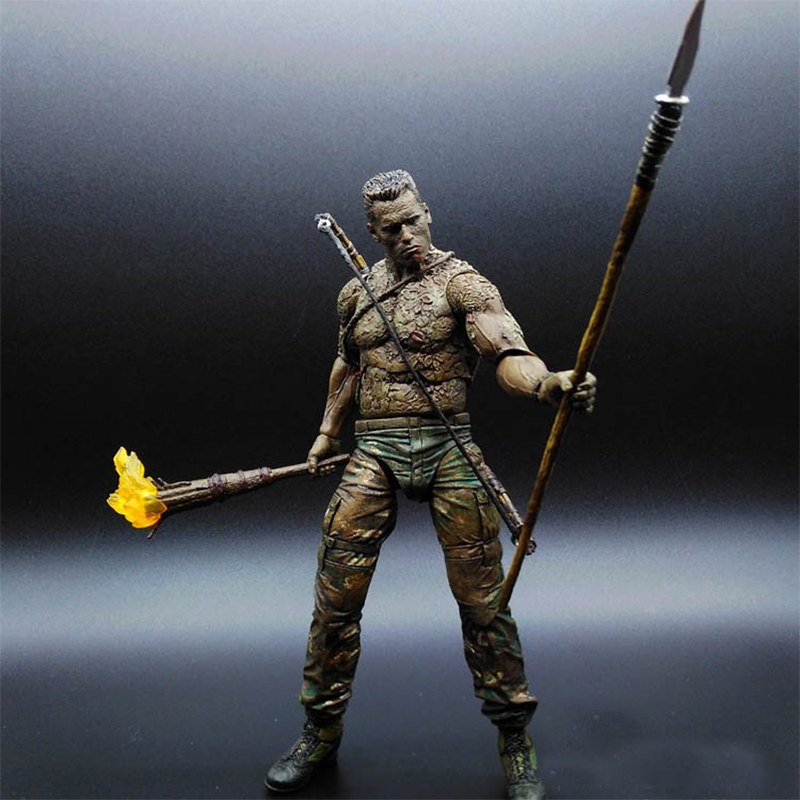 Fashion 25th Predator Jungle Disguise Encounter Dutch PVC Action Figure Toys Collectible Model Toy For Children 7 Brinquedos shfiguarts batman injustice ver pvc action figure collectible model toy 16cm kt1840