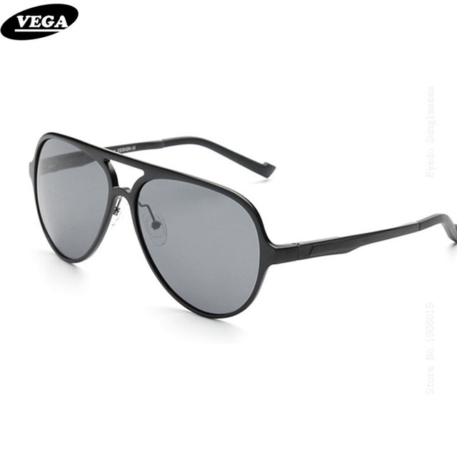 2bda1f0f95 VEGA High Quality Aluminum Magnesium Frame HD Vision Lensese Polarized  Sunglasses with Box Navy Air Force Sun Glasses 8560