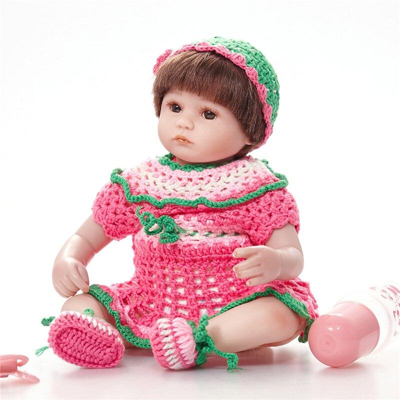 Handmade Reborn Babies Silicone Grils Baby Dolls Boy Fashion Kids Toy Reborn Bonecas Nice Clothing Dolls SB4510 Doll Baby Born