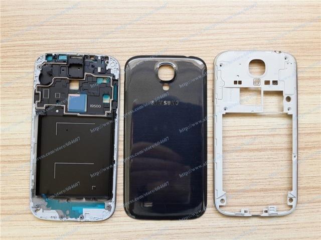 New Black OEM Middle Frame+Rear Frame+Back Cover For Samsung S4 I9500 GT-I9500 I9505 GT-I9505 Phone