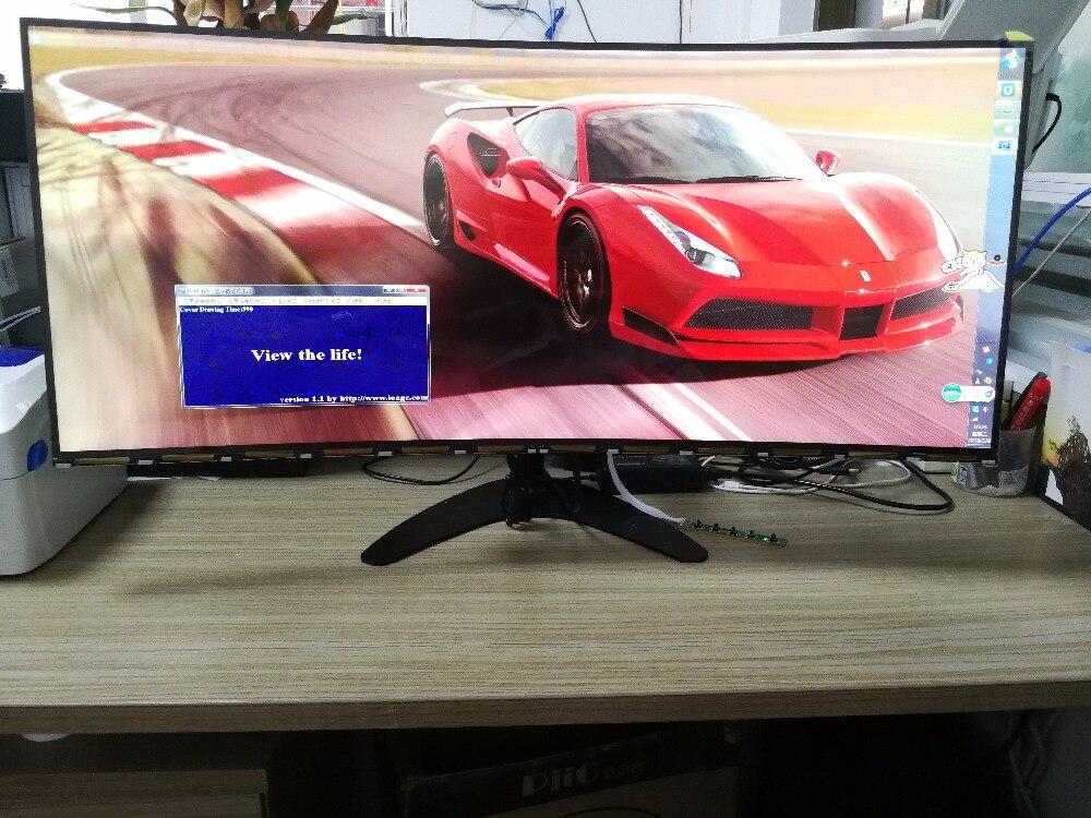 34 ''4 K 21:9 UltraWide incurvé nouveau écran d'origine IPS LTM340YP03 avec carte contrôleur DP HDMI pour bricolage MX34VQ MK3449E affichage