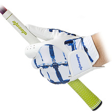 Golf Gloves Men's Left Hand glove Soft Breathable  Sheepskin Golf Gloves white / blue Free Shipping все цены