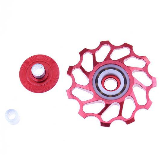 2 kusy cyklistické cyklistické kolo Jockey Wheel Zadní přehazovačka Kladka 11T 13T 7005 Hliníková slitina jízdních kol