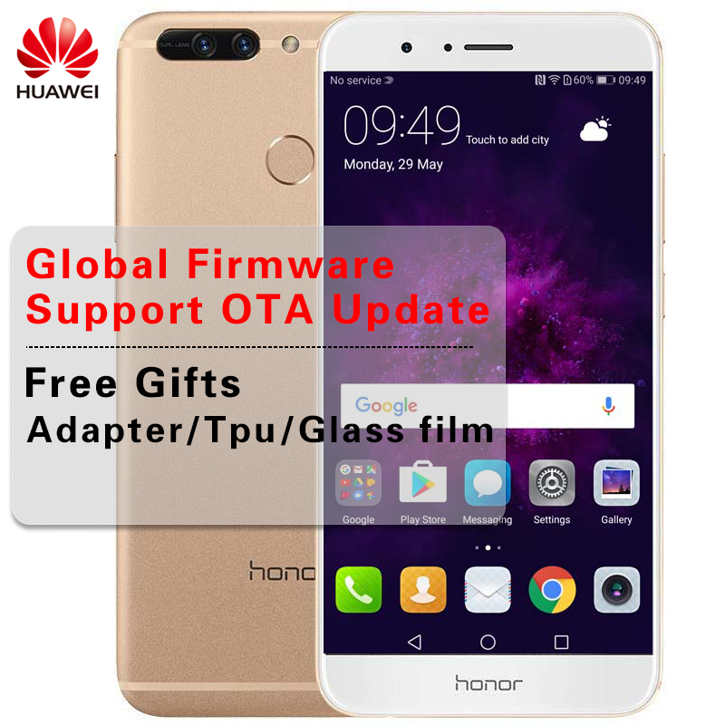 Huawei Honor 8 Pro LTE смартфон 6G RAM 64G ROM Kirin960 Восьмиядерный экран 2k 5,7 дюймов Android 7,0 отпечатков пальцев мобильный телефон NFC
