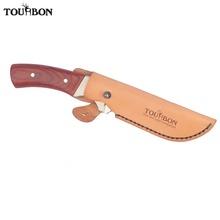Tourbon myśliwskie noże z zamocowanym na stałe ostrzem osłona osłony prawdziwy nóż do skóry pochwa z zapięciem na guziki tanie tanio OT473LE2 Fixed Blade Knives Sheath Prawdziwej skóry China Khaki Holds the knife 18*4*2 5cm 0 04kg Genuine Leather Hunting knives cover