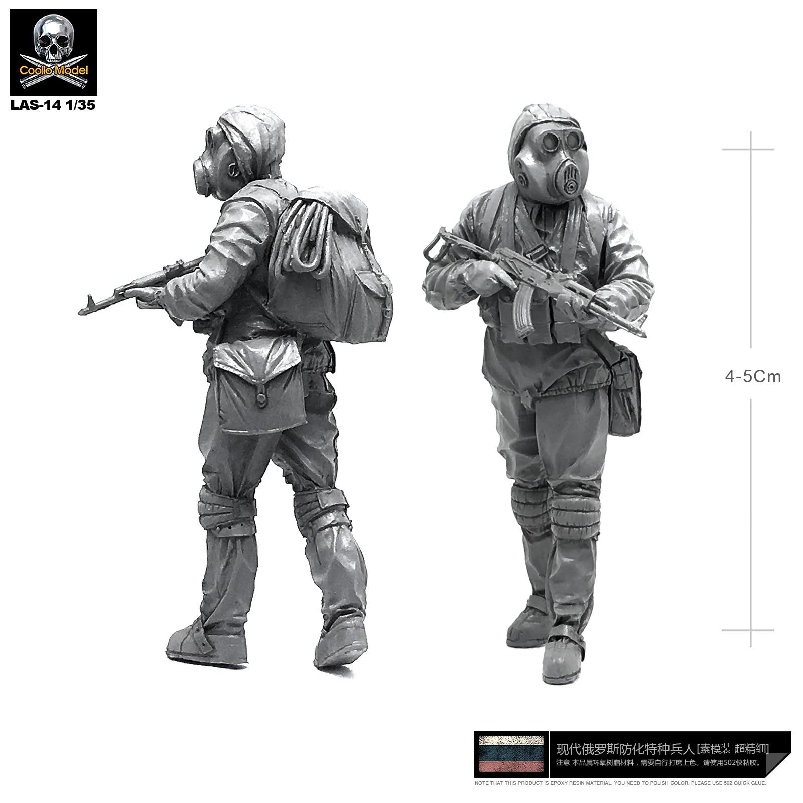 Yufan Model  1/35 Russian Biochemical Force 1 Drag Resin Soldier Las-14