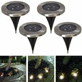 10pcs/lot Outdoor Solar Powered 2 LED Underground Waterproof Bulbs Light Buried Lamp Path Way Garden Under Ground Decking Yard
