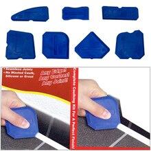 4/5/9pcs Window Door Silicone Glass Cement Scraper Tool  Silicone Sealant Spreader Spatula Scraper Cement Removal Tool Kit NEW