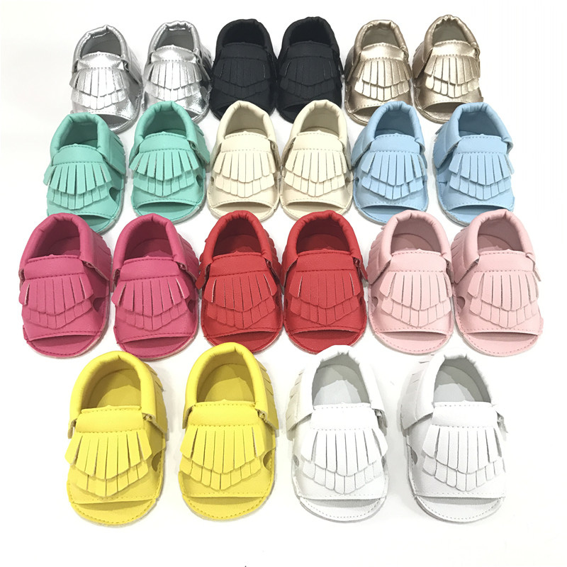 2017 Hot Sell Newest Summer Fashion Street Baby Moccasins Leather Tassels Toddler Shoes Baby Toddler Shoes baby First Walkers