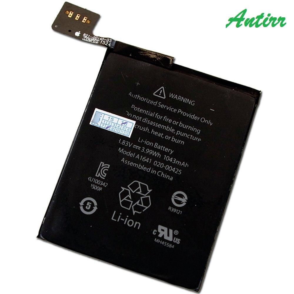 1043 mAh Bateria de Iões de Lítio Interna Para O iPod Touch 6 gen 16 GB 32 GB 64 GB