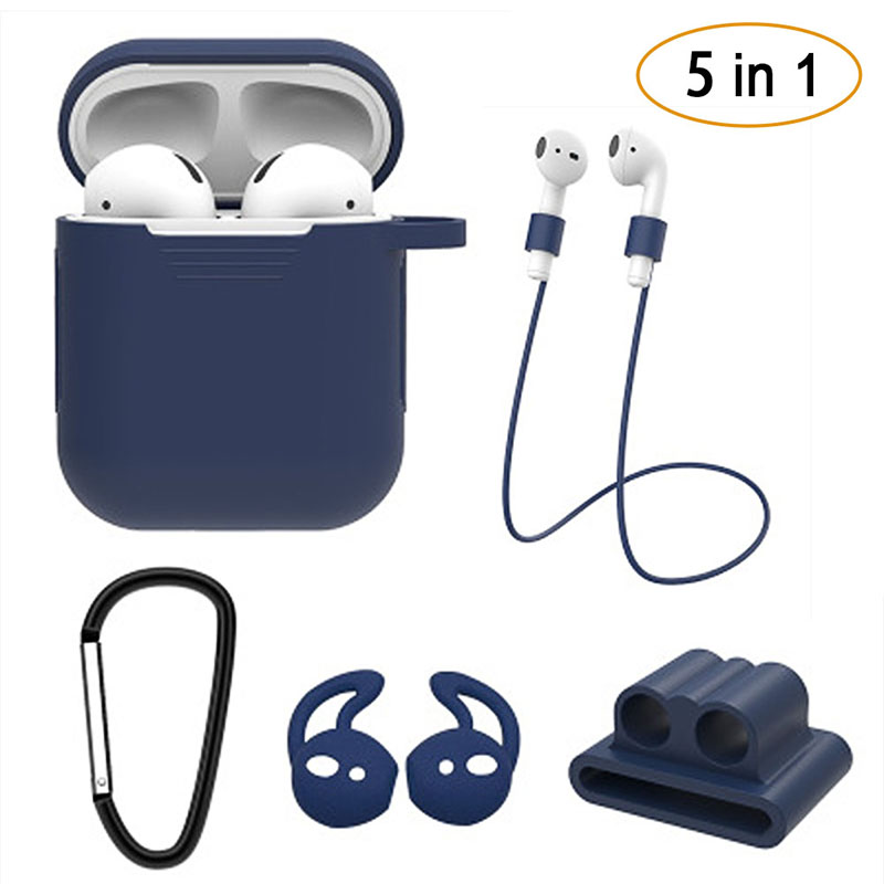 New 5Pcs/Set Silicone Wireless Bluetooth Earphones Case <font><b>Airpods</b></font> I Phone I10 <font><b>I30</b></font> <font><b>TWS</b></font> Earbud Earphone Accessories Protective image